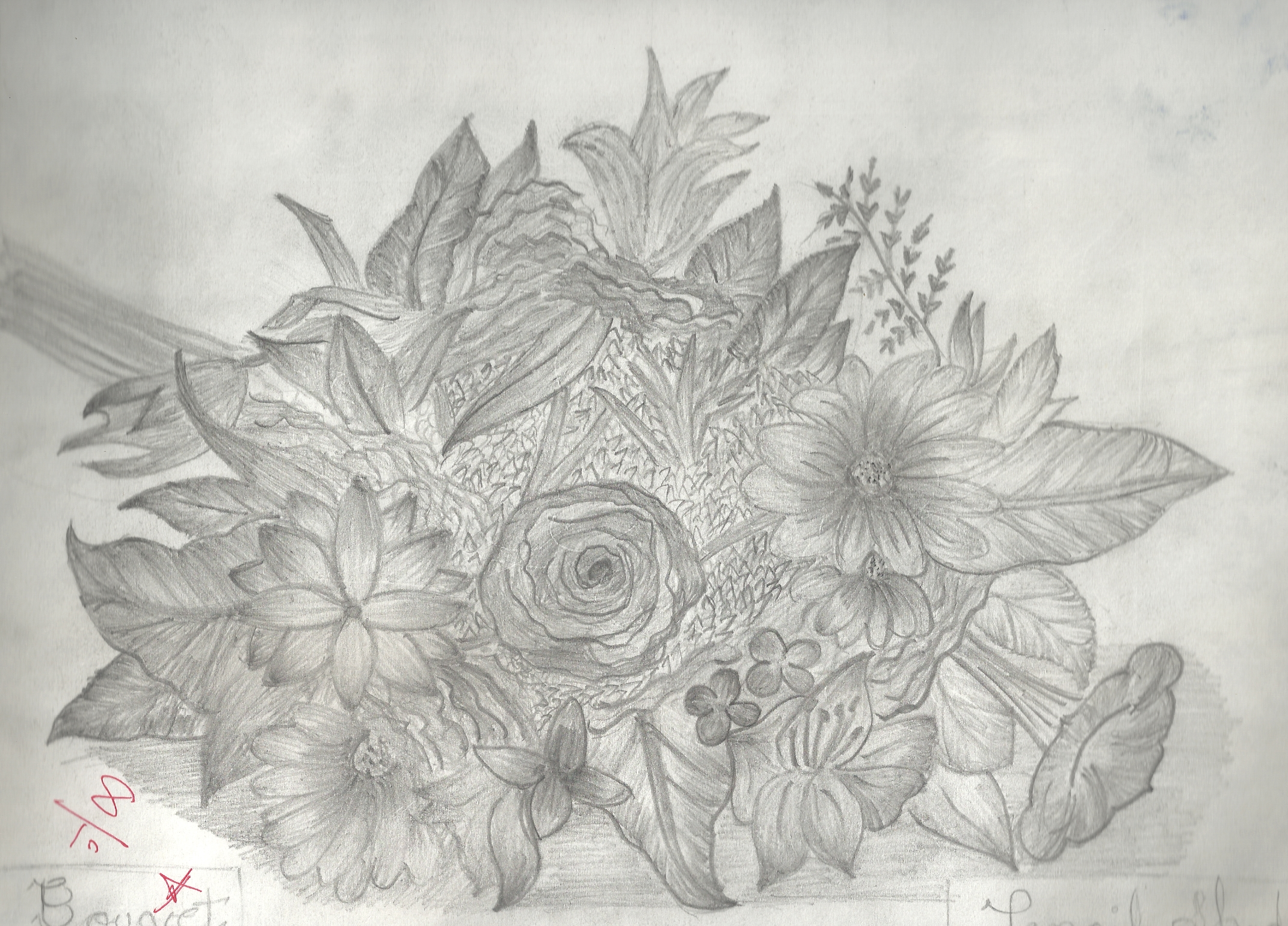 Pencil Shading Drawing Of Flowers Pencildrawing2019